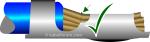 Position der Leitung im Crimpkontakt - Stripper-Crimper