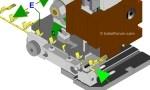 Trennsteg im MQC Crimpwerkzeug (Sidefeed) einstellen