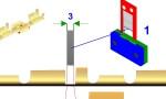 Trennsteg im MQC Crimpwerkzeug (Endfeed) einstellen