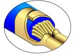 Umfassungscrimp, Asymmetrisch - Isolationscrimp