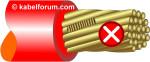 Abisolierfehler beim Stripper-Crimper - Oberfläche angekratzt